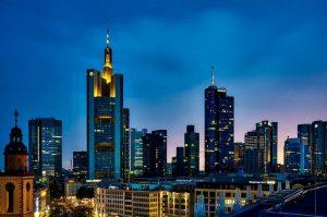 Francoforte panoramica Germania